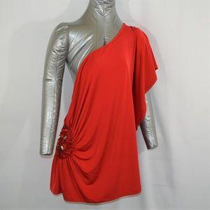Lane Bryant  Womens Red Single Shoulder Top